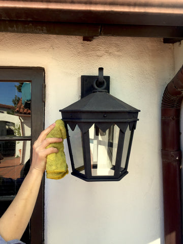 Cleaning and care for outdoor wrought iron lanterns