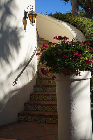 Biltmore Hotel Santa Barbara curved staircase - DLG Lighting Co.
