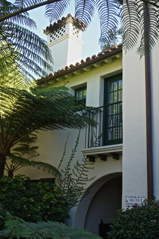 Biltmore Hotel Santa Barbara balcony and vines - DLG Lighting Co.