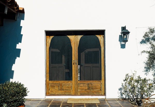 adobe hacienda exterior lighting