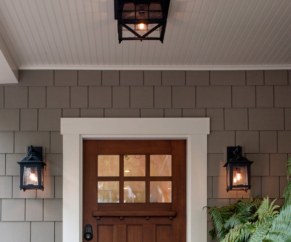 Loma Lantern by DLG Lighting Co. on a Santa Barbara Craftsman