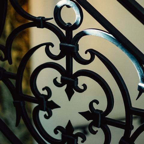 wrought iron custom railing