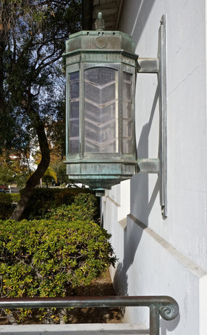 Architect Reginald Johnson Santa Barbara Post Office Deco Light