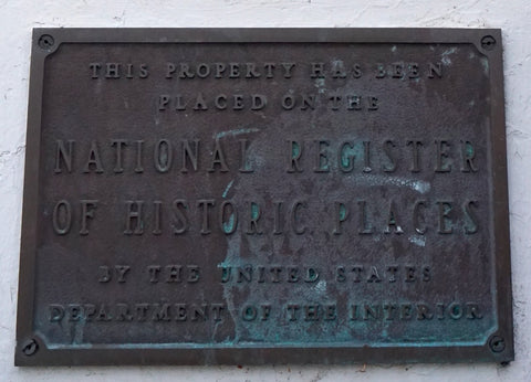 Historic Places Plaque on the Santa Barbara Post Office