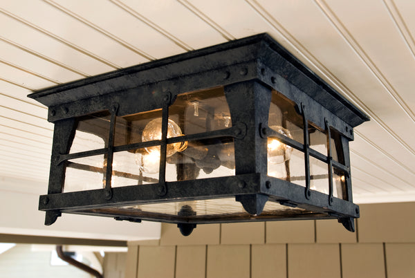 Fair Oaks flush mount wrought iron light by DLG Lighting Co.