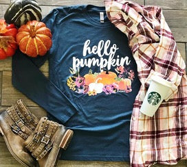 Hello Pumpkin Long Sleeve Tee