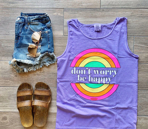 """Don't Worry, Be Happy"" Tank"