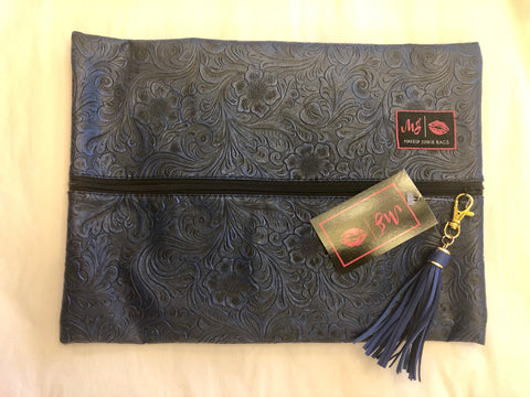 Large Indigo Night Makeup Junkie Bag