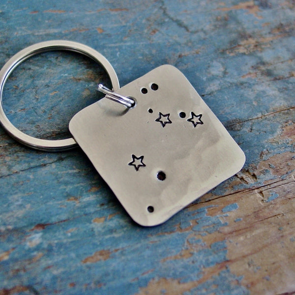 Leo Zodiac Gift | Astrological Keychain | Star Sign | 7/23 - 8/22 Birthday Gifts - PearlieGirl