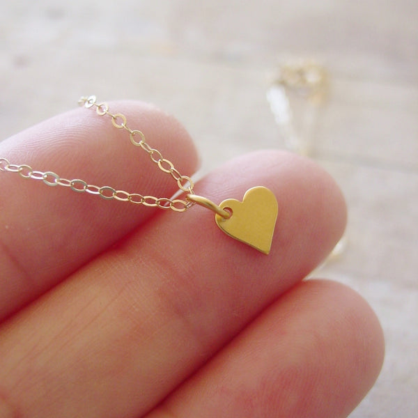 Delicate Heart Necklace| 14k Gold Filled - Necklace - [PearlieGirl]
