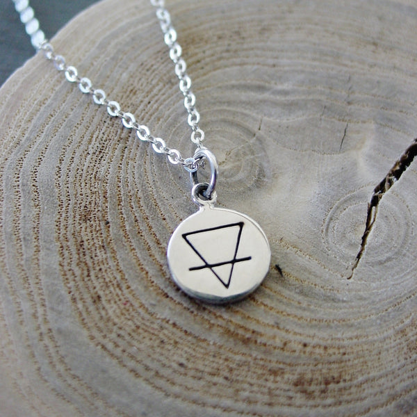 Mountain Necklace | Sterling Silver | Earth Elemental Sign - Necklace - [PearlieGirl]