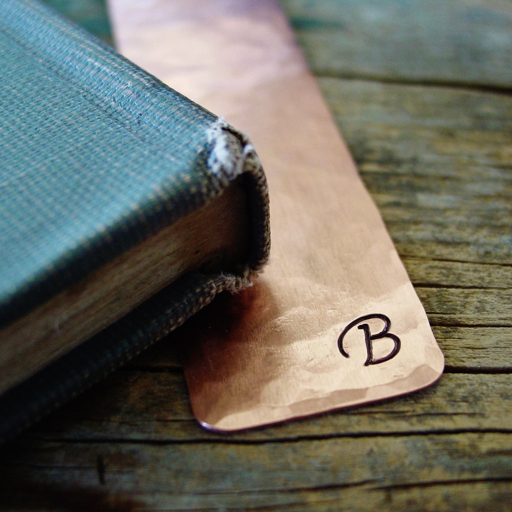 Corsiva Initial Bookmark in Copper - Bookmark - [PearlieGirl]