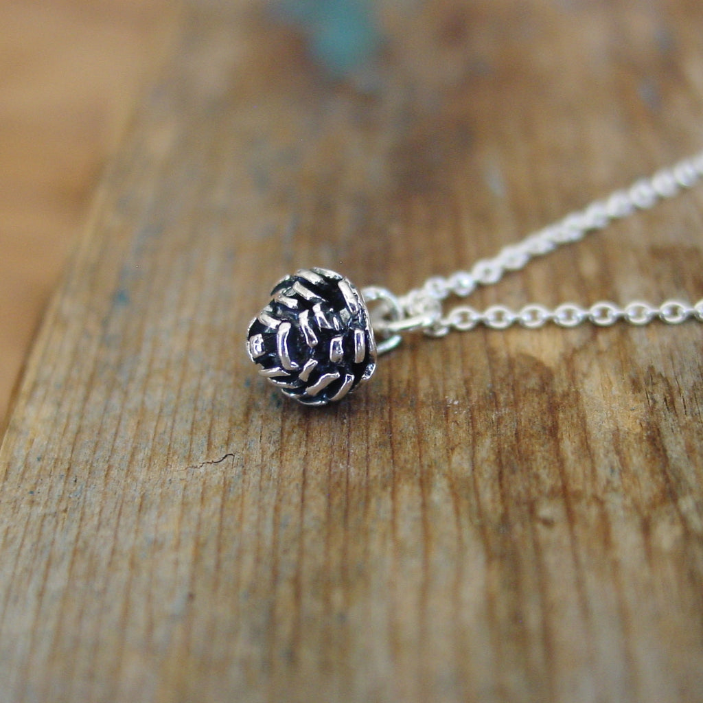 Pine Cone Sterling Silver Necklace - Necklace - [PearlieGirl]