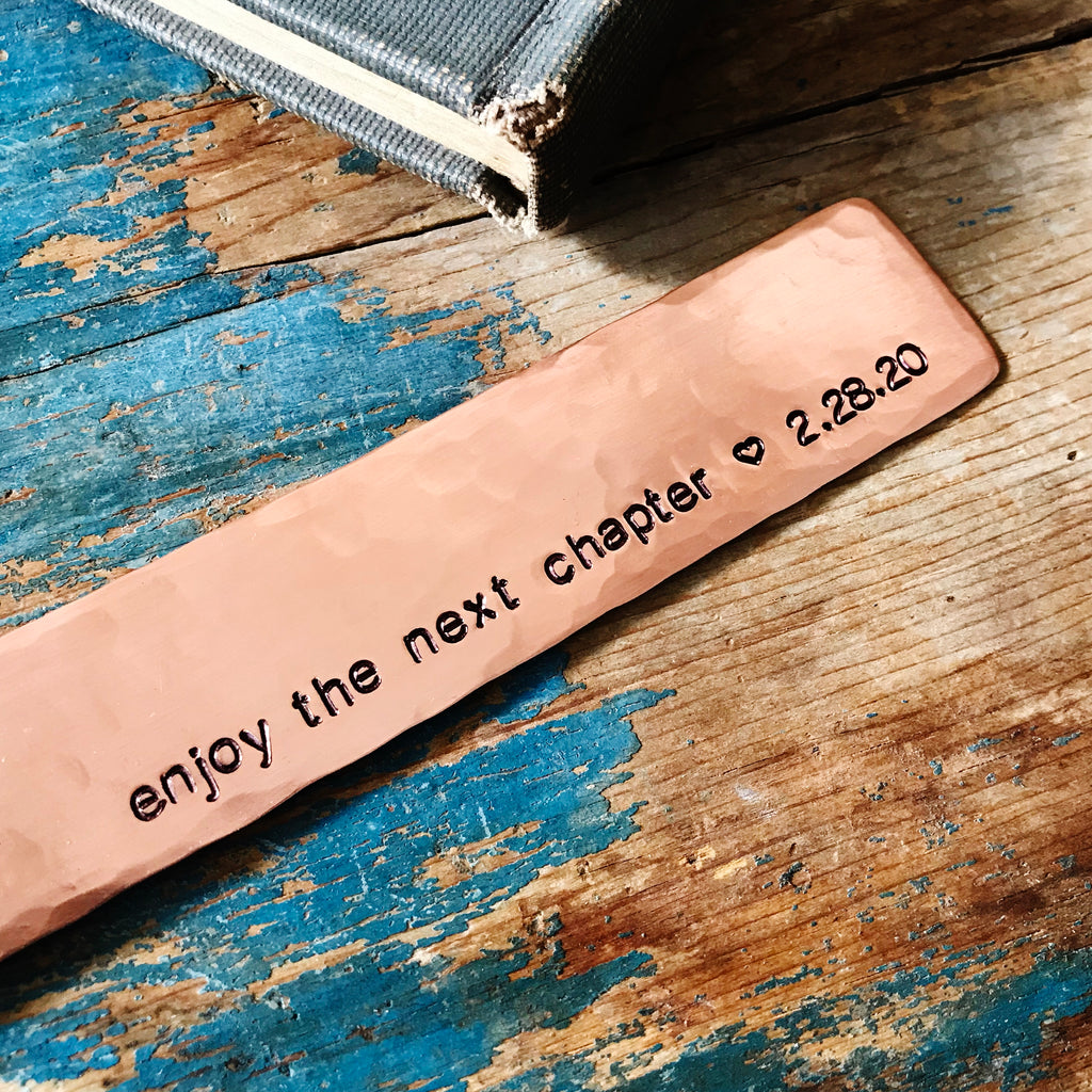 Personalized Retirement Gift | Enjoy the Next Chapter Copper Bookmark - Bookmark - [PearlieGirl]