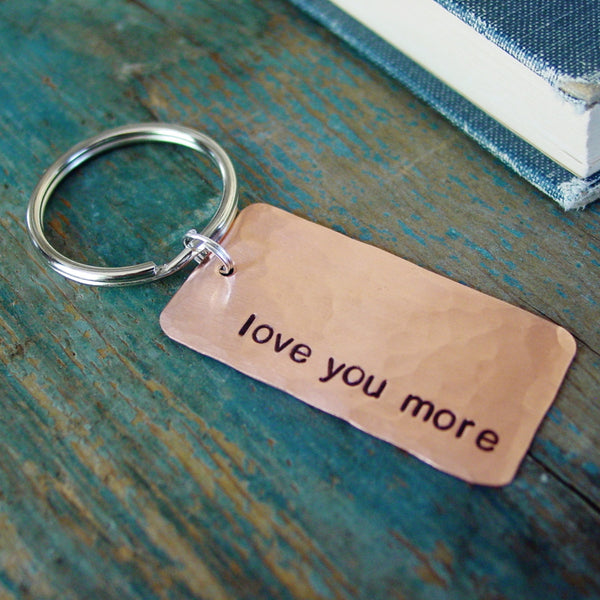 Love You More Keychain | Copper Gift - PearlieGirl