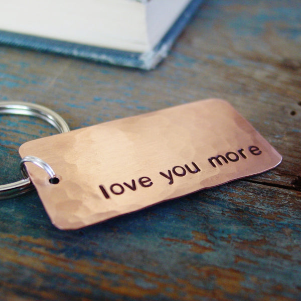 Love You More Keychain | Copper Gift - Keychain - [PearlieGirl]