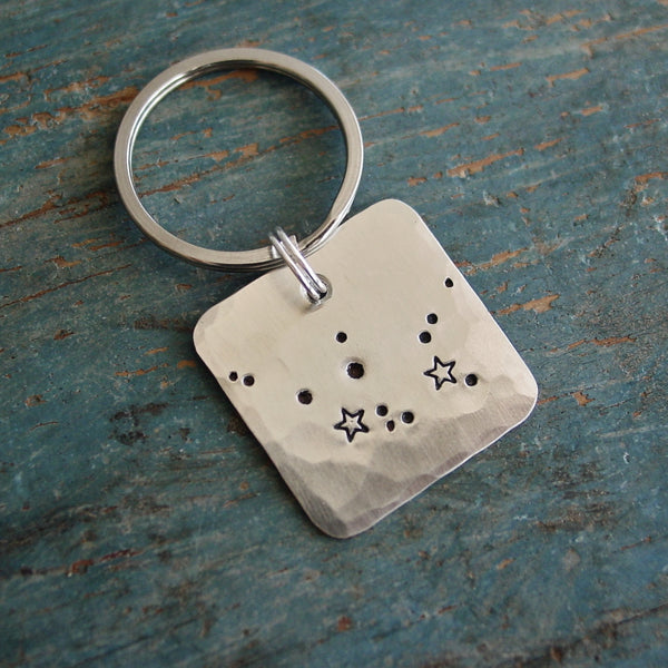 Aquarius Constellation Keychain | Astrological Gift | January February Zodiac Sign - Constellation Keychain - [PearlieGirl]
