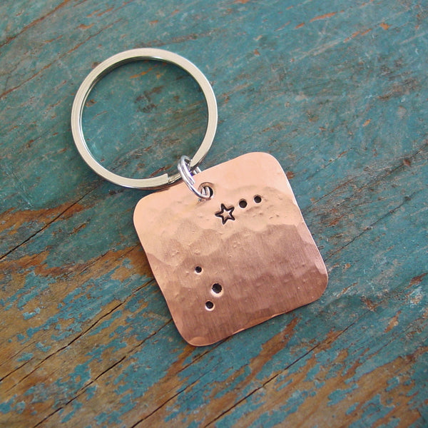 Aries Zodiac Gift | Astrological Keychain | Star Sign | March April Zodiac Sign - Constellation Keychain - [PearlieGirl]