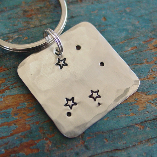 Libra Zodiac Gift | Astrological Keychain | Star Sign | 9/23 - 10/22 Birthday Gifts - PearlieGirl