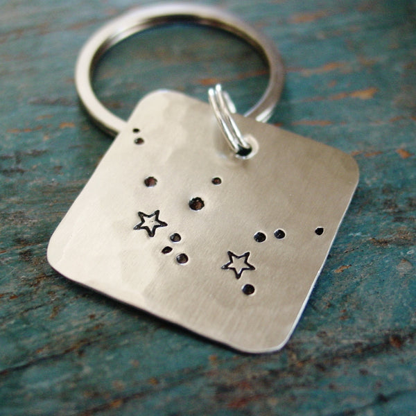 Aquarius Constellation Keychain, Unique Celestial Birthday Gifts - Constellation Keychain - [PearlieGirl]