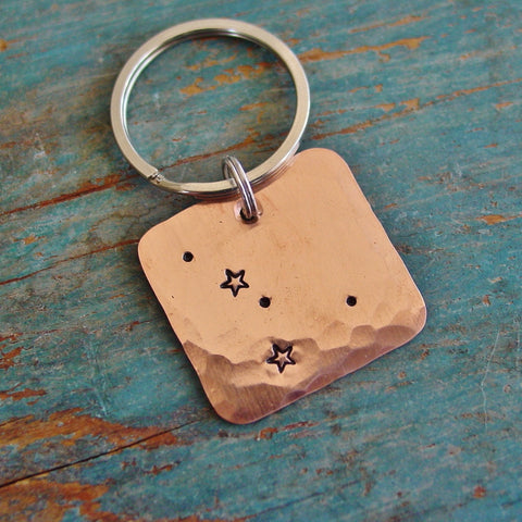 Cancer Constellation Keychain, Stamped Star Sign Map, Unique Birthday Gift - Constellation Keychain - [PearlieGirl]