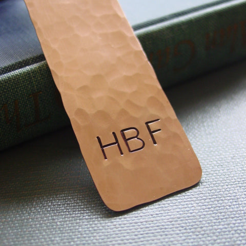 Copper Monogram Bookmark, Personalized Reader Classic Gift - Bookmark - [PearlieGirl]