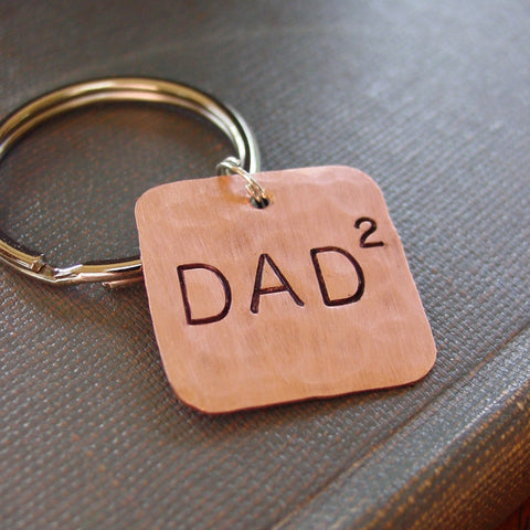 Dad Squared Keychain in Copper | Twins Gift - Keychain - [PearlieGirl]