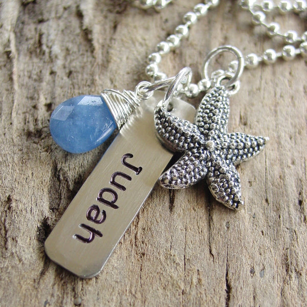 Starfish Necklace | Beach Lover | Personalized Name Necklace - Necklace - [PearlieGirl]