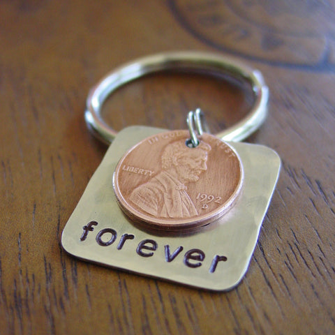 Forever Lucky Penny Keychain - Penny Keychain - [PearlieGirl]