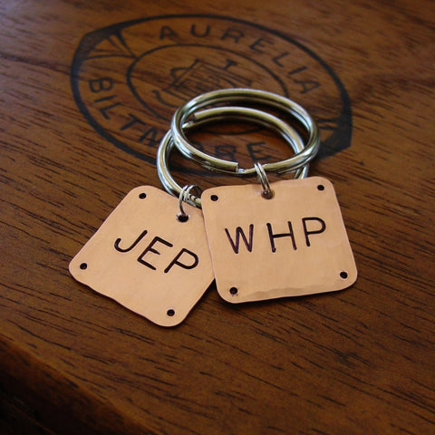 Couples Gift Set | Monogram Keychains | Wedding Gift - PearlieGirl