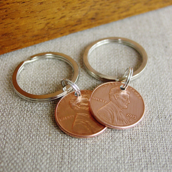 Lucky Penny Key Chain Set | Year of Choice - PearlieGirl