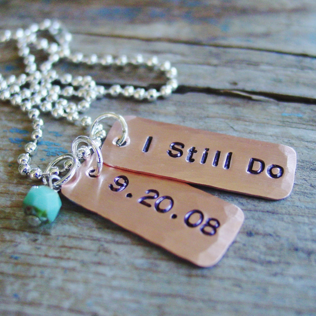 I Still Do Necklace | Copper 7th Anniversary Gift - Necklace - [PearlieGirl]