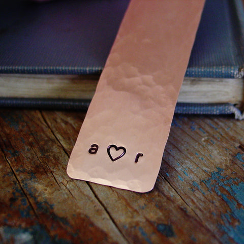 Couple Initials Heart Bookmark - Bookmark - [PearlieGirl]