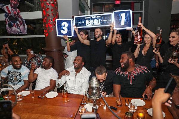 Meek Mill celebrates his birthday at KOMODO restaurant
