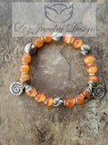 Orange cat eye bracelet - Luzjewelrydesign   - 2