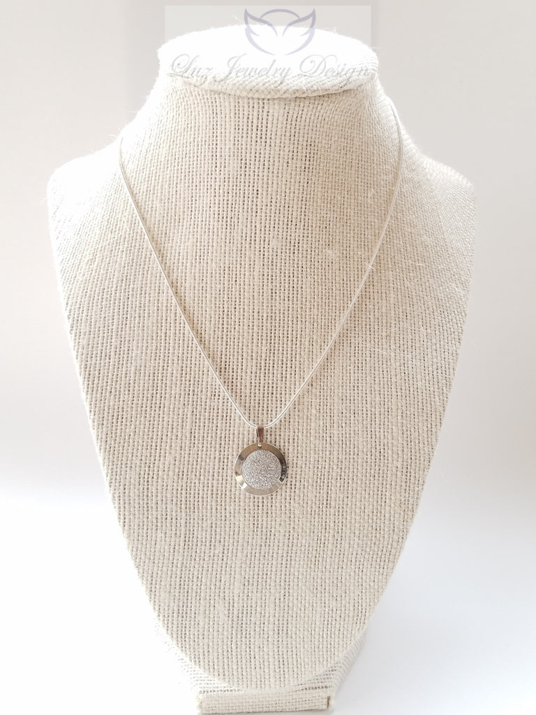 Sterling silver plate necklace - Luzjewelrydesign   - 1