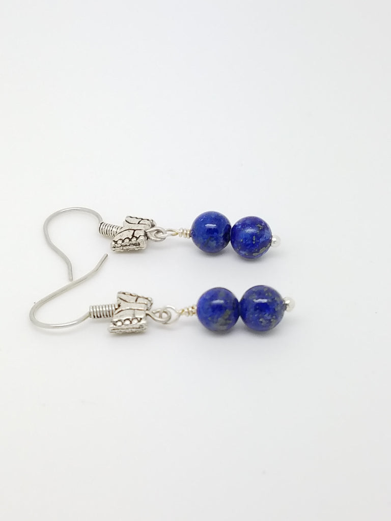 Lapis Lazuli Earrings - Luzjewelrydesign   - 1