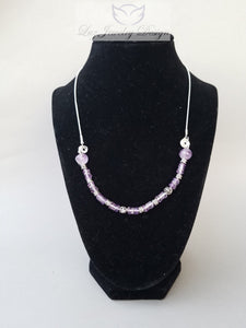 Purple Amethyst Necklace sterling silver - Luzjewelrydesign   - 1