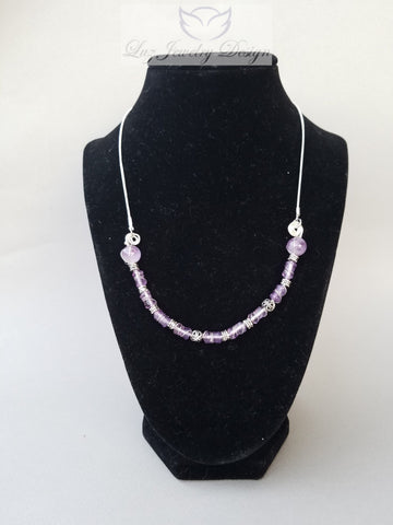 Purple Amethyst Necklace sterling silver