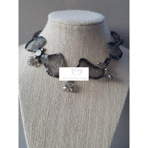 Metal Ribbon choker - handcrafted Jewelry Luzjewelrydesign