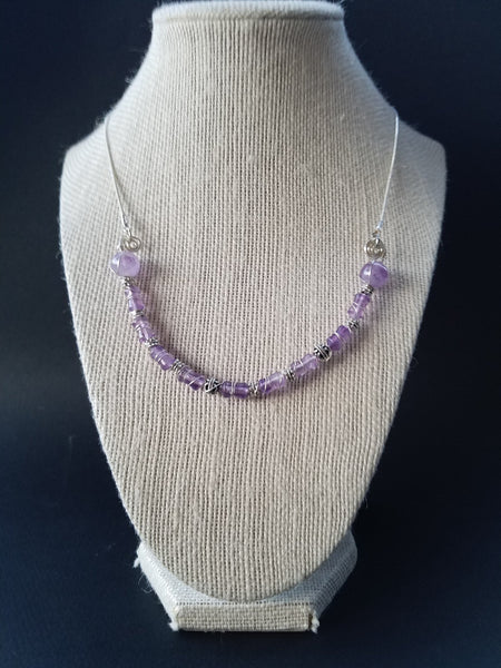 Purple Amethyst Necklace sterling silver - Luzjewelrydesign   - 4