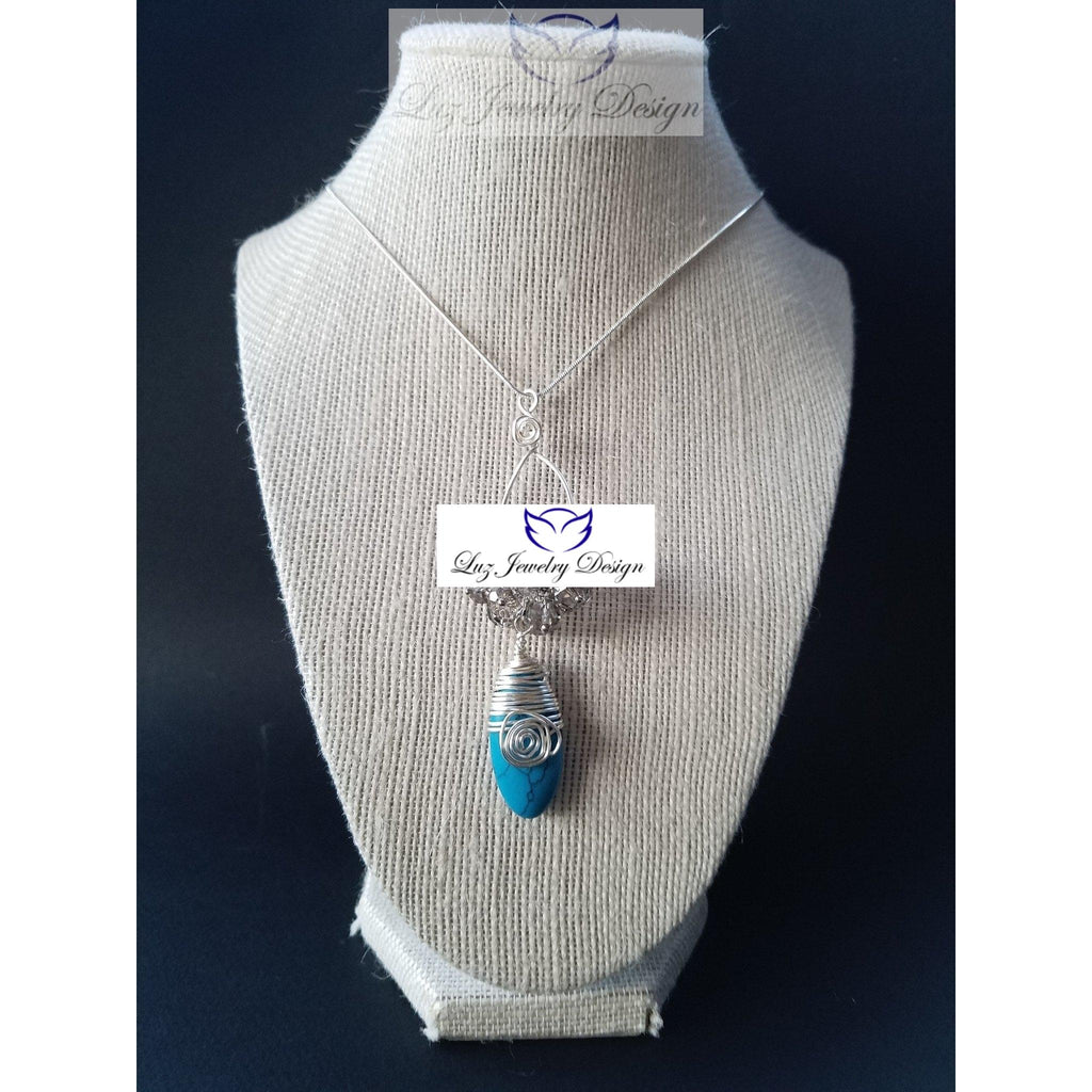 Boho Turquoise Necklace - Luzjewelrydesign   - 1
