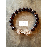 Garnet bracelet January birthstone - Luzjewelrydesign   - 3