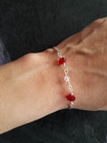 Red Adjustable Bracelet - Luzjewelrydesign