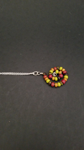 Multicolor Spiral Necklace - Luzjewelrydesign