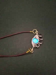 Brown leather necklace - Luzjewelrydesign