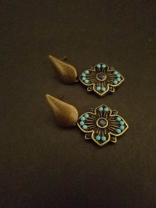 Brass earrings - Luzjewelrydesign