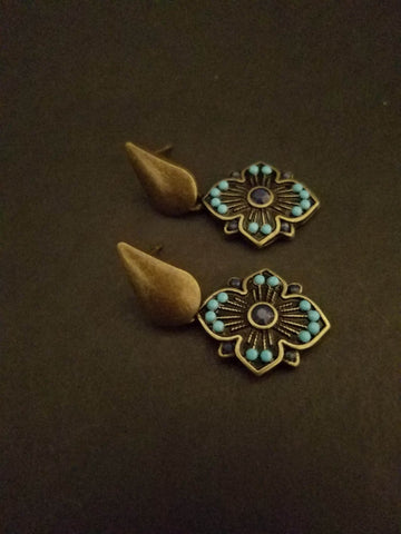 Brass earrings - handcrafted Jewelry Luzjewelrydesign