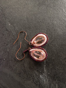 Gold Rose Wire Earrings - handcrafted Jewelry Luzjewelrydesign