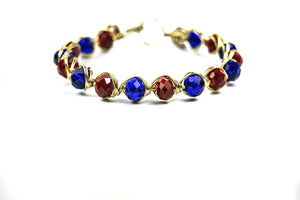 Red and Blue Bracelet - Luzjewelrydesign